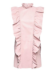Etype thin leather dress - PEACH BLUSH
