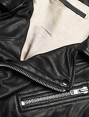 MDK / Munderingskompagniet - Bronco thin leather jacket - skinnjackor - black - 3