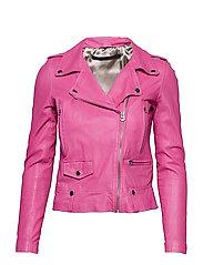 Seattle new thin leather jacket (yellow) - MAGENTA