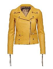 Seattle new thin leather jacket (yellow) - YELLOW