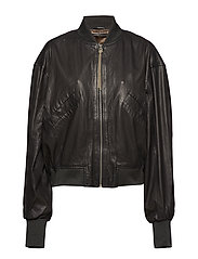 Tilde thin bomber jacket (black) - BLACK