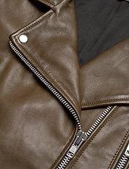 MDK / Munderingskompagniet - Frida vegetal leather jacket (dark green) - leather jackets - dark green - 3