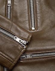 MDK / Munderingskompagniet - Frida vegetal leather jacket (dark green) - leather jackets - dark green - 4
