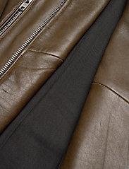 MDK / Munderingskompagniet - Frida vegetal leather jacket (dark green) - leather jackets - dark green - 5