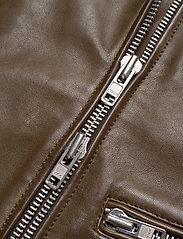MDK / Munderingskompagniet - Frida vegetal leather jacket (dark green) - leather jackets - dark green - 6