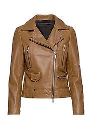 Frida vegetal leather jacket (dark green) - TOBACCO