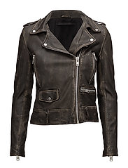 Seattle washed leather jacket