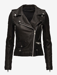 Seattle Leather Jacket - skinnjackor - black