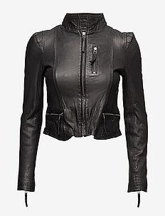Rucy Leather Jacket - skinnjackor - black