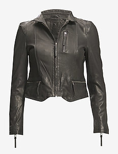 Rucy Leather Jacket - kurtki skórzane - black