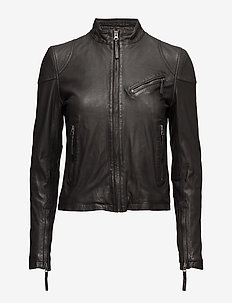 Kassandra Leather Jacket - kurtki skórzane - black