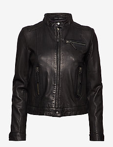 Karla Leather Jacket - kurtki skórzane - black