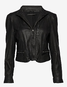 Rucy leather jacket (black) - kurtki skórzane - black