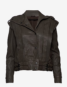 Enola leather jacket (bungee cord) - skinnjackor - bungee cord