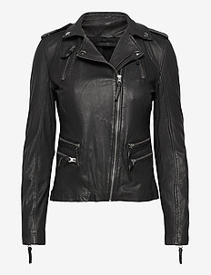 Rosa leather jacket - nahkatakit - black