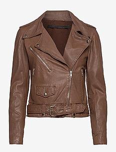 Berlin leather jacket - skinnjackor - monks robe