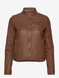 Carli thin leather jacket - skinnjackor - monks robe