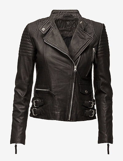 City biker leather jacket - leather jackets - black