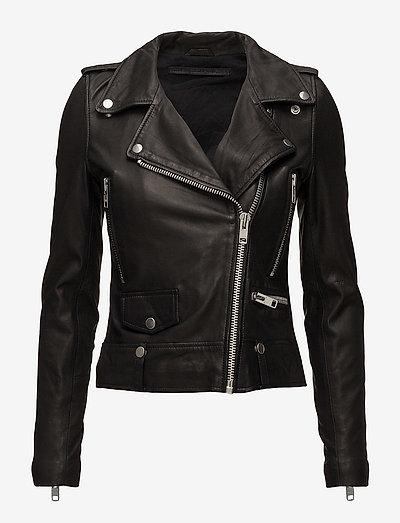 Seattle Leather Jacket - leather jackets - black