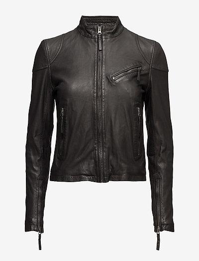 Kassandra Leather Jacket - leather jackets - black