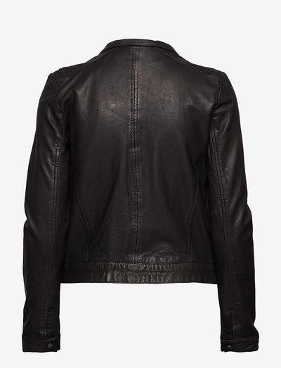 Karla Leather Jacket - leather jackets - black