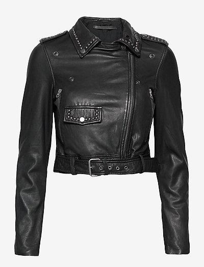 Aia leather jacket - leather jackets - black