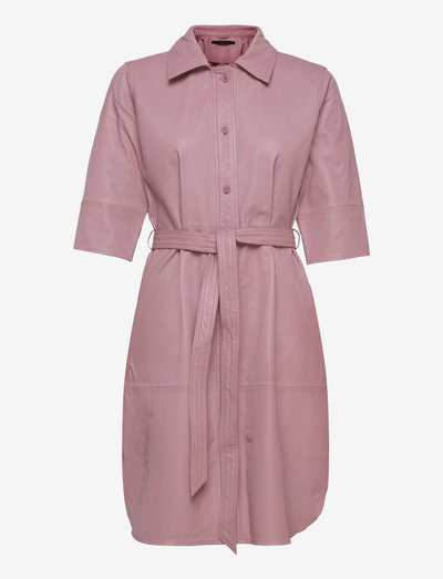 Clare thin leather dress - everyday dresses - wood rose