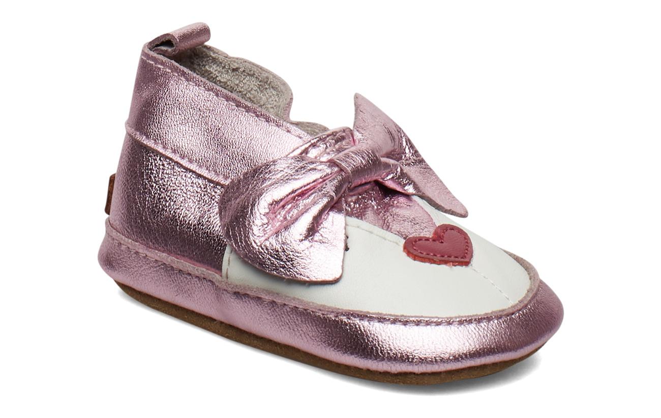 Melton LEATHER Shoe - Baby Mouse - CERISE