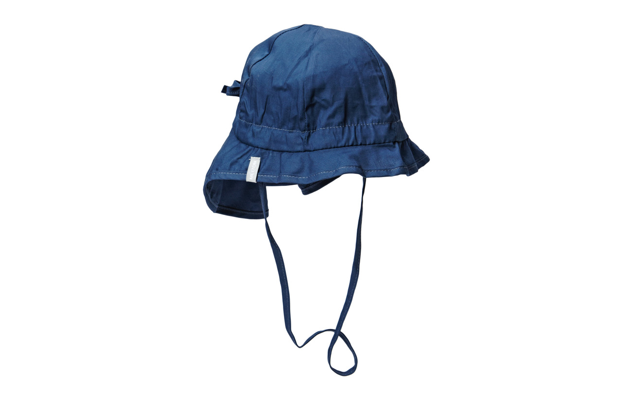 Melton Hat w/neck & bow - Solid col - 285/MARINE