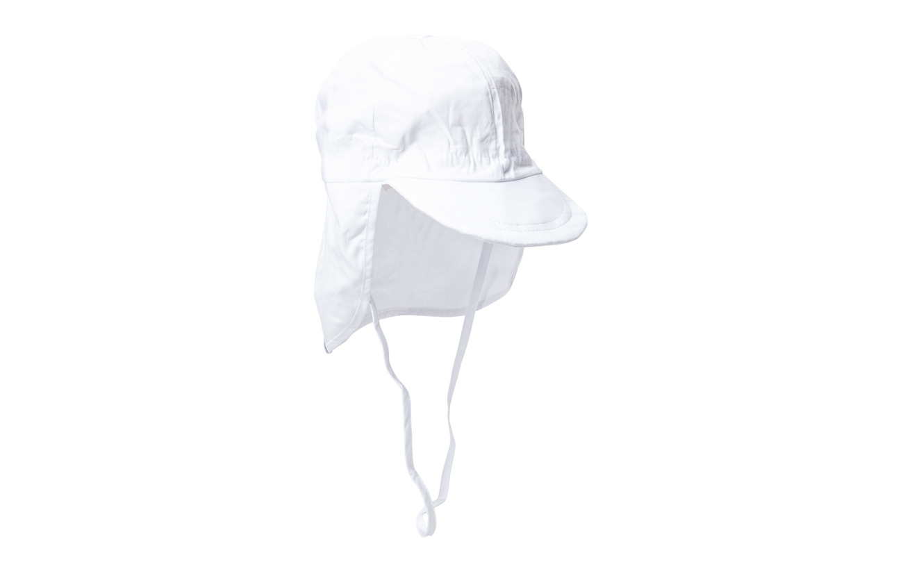 Melton Cap w/neck - Solid colour - 100/WHITE