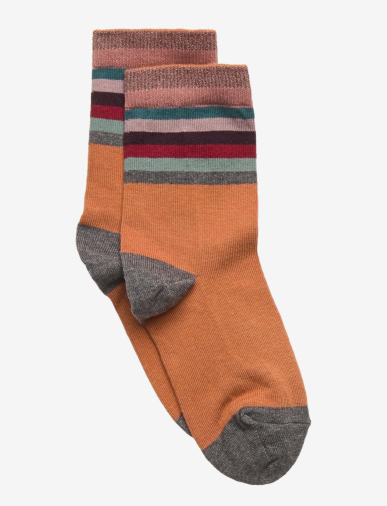 Melton - Ankle Sock - Glitter Dots - skarpetki - brown - 0