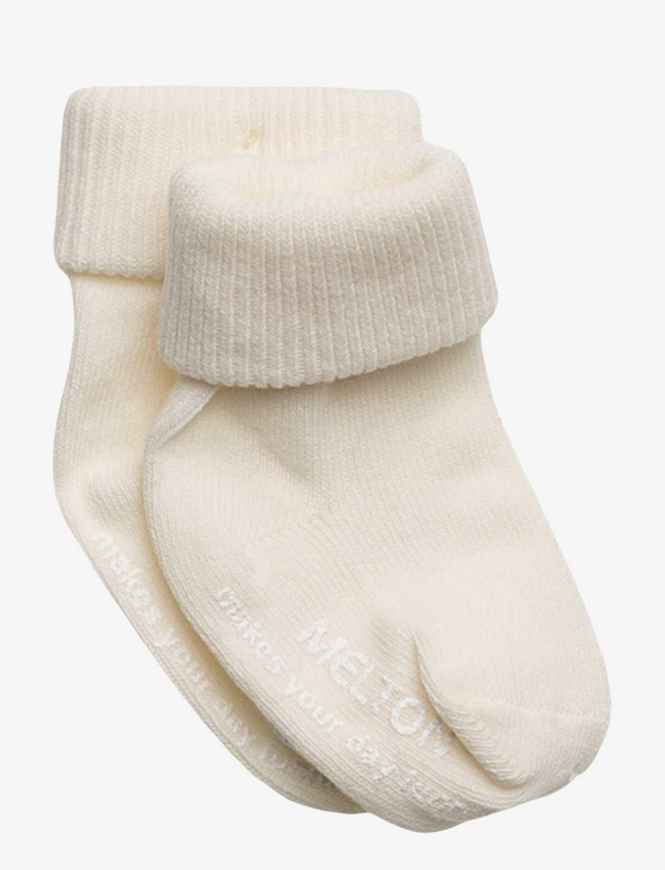 Melton - Baby sock, turn-up - socks - 410/offwhite - 0