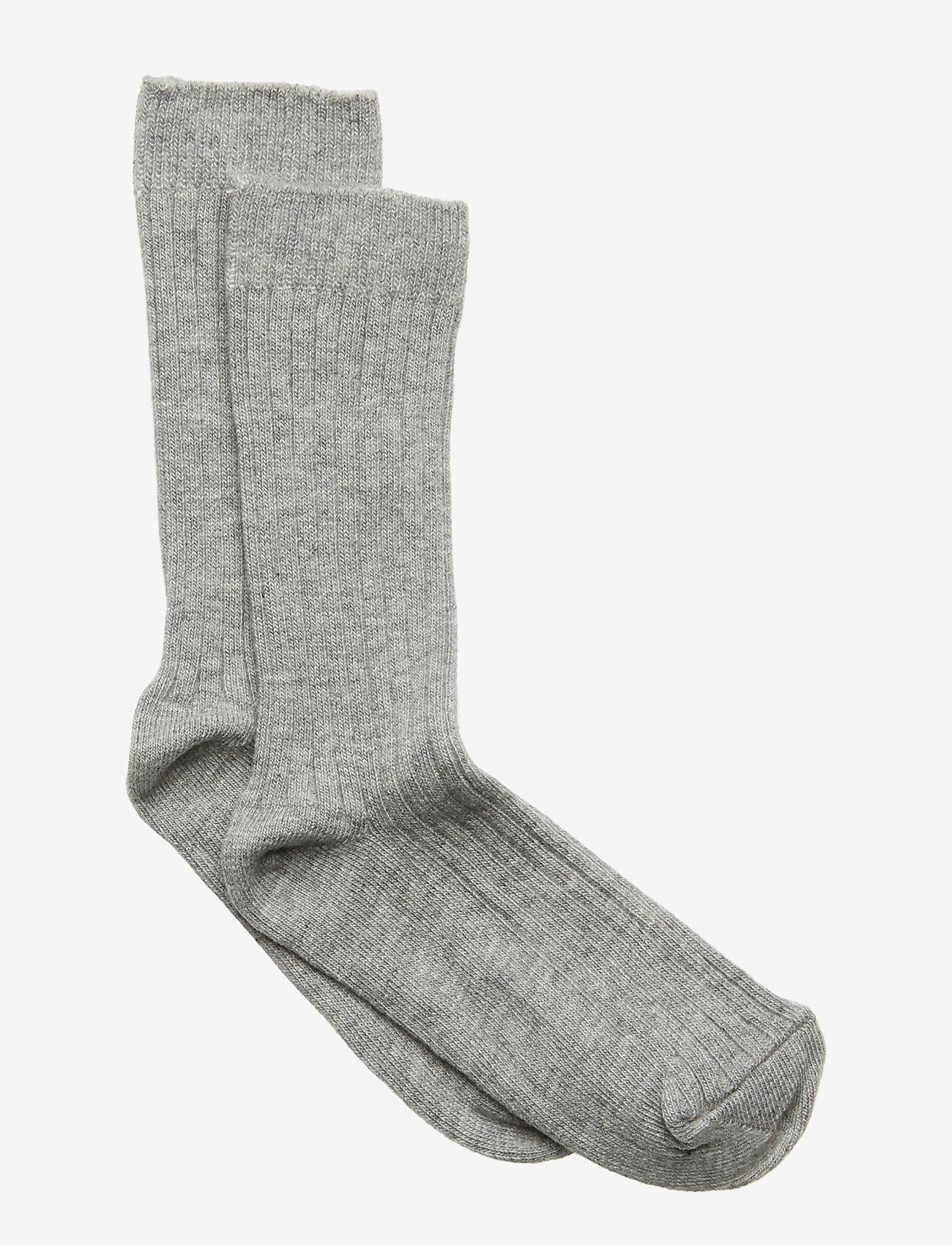 Melton - Sock - Rib - All Sizes - skarpetki - light grey melange - 0