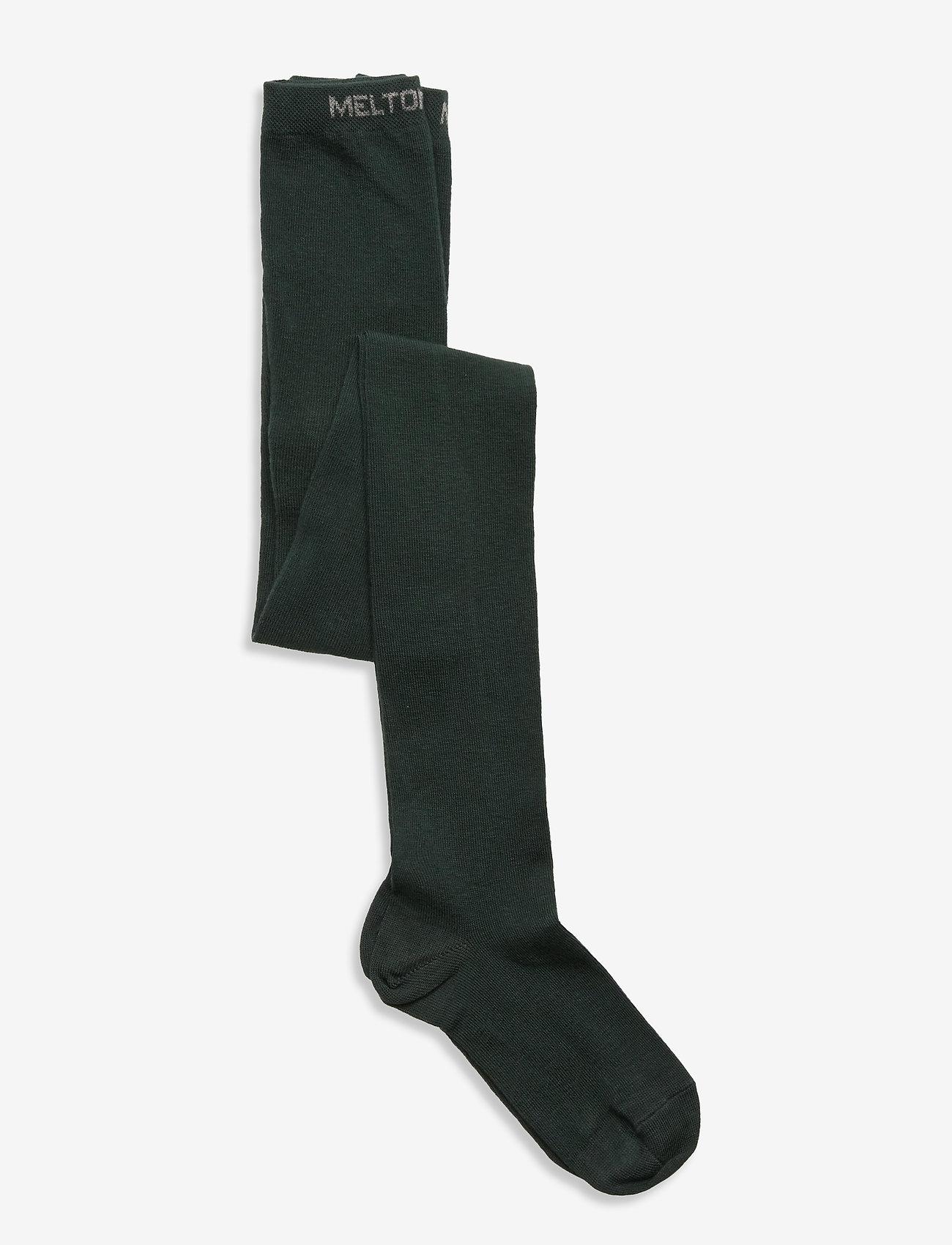 Melton - Cotton Tights - rajstopy - green - 0