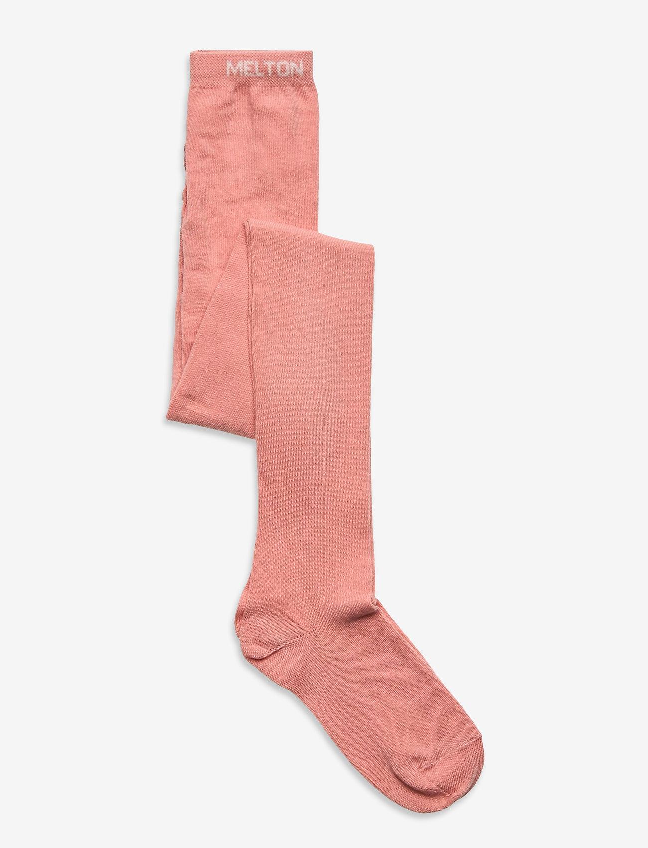 Melton - Cotton Tights - rajstopy - rose - 0