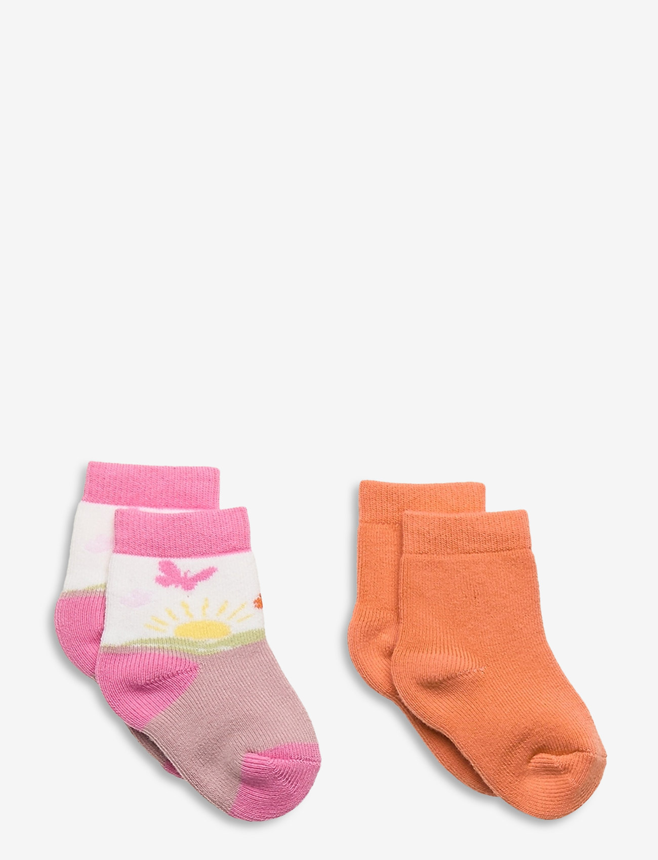 Melton - Andrea 2-pack Socks - skarpetki - rose - 0