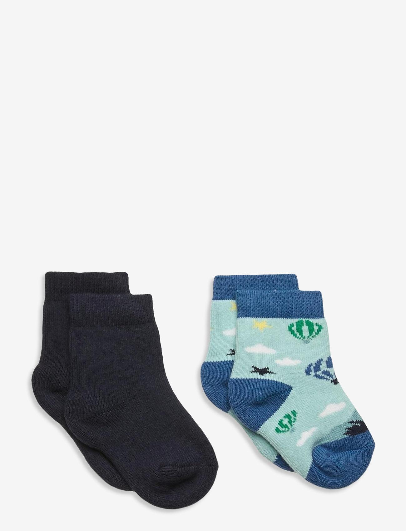 Melton - George 2-pack socks - skarpetki - blue - 0