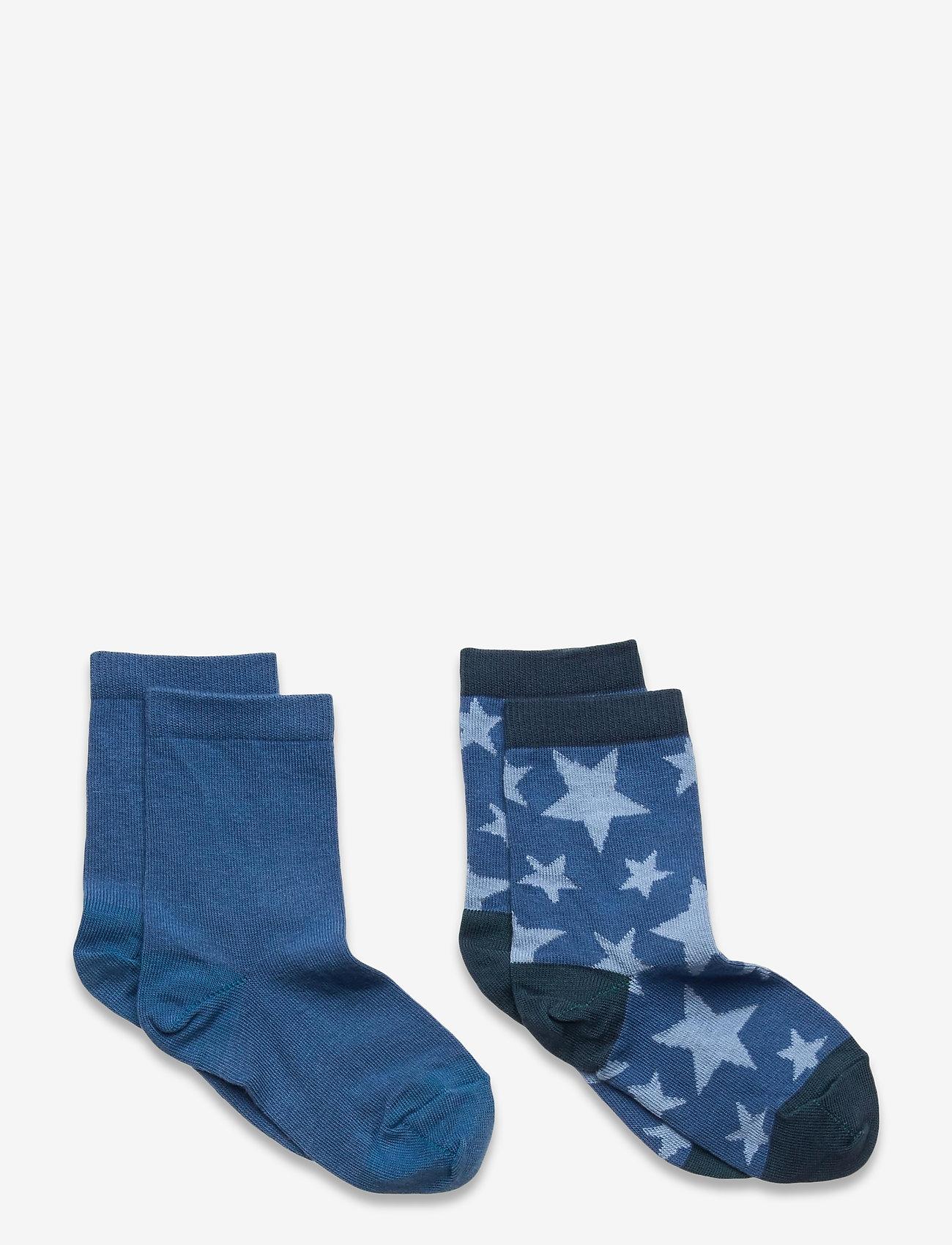 Melton - Max 2-pack socks - skarpetki - blue - 0