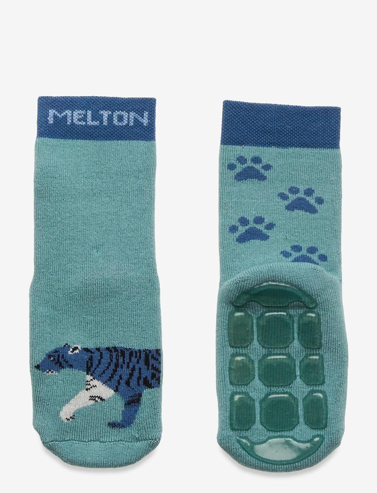 Melton - Miles socks with anti-slip - skarpetki antypoślizgowe - blue - 0