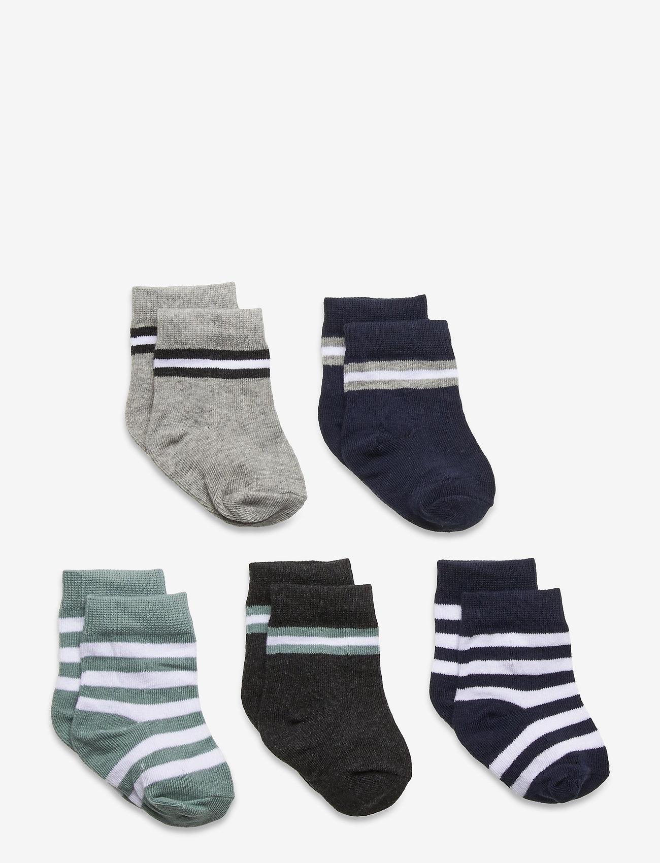 Melton - 5-Pack Socks - Boys - skarpetki - grey - 0