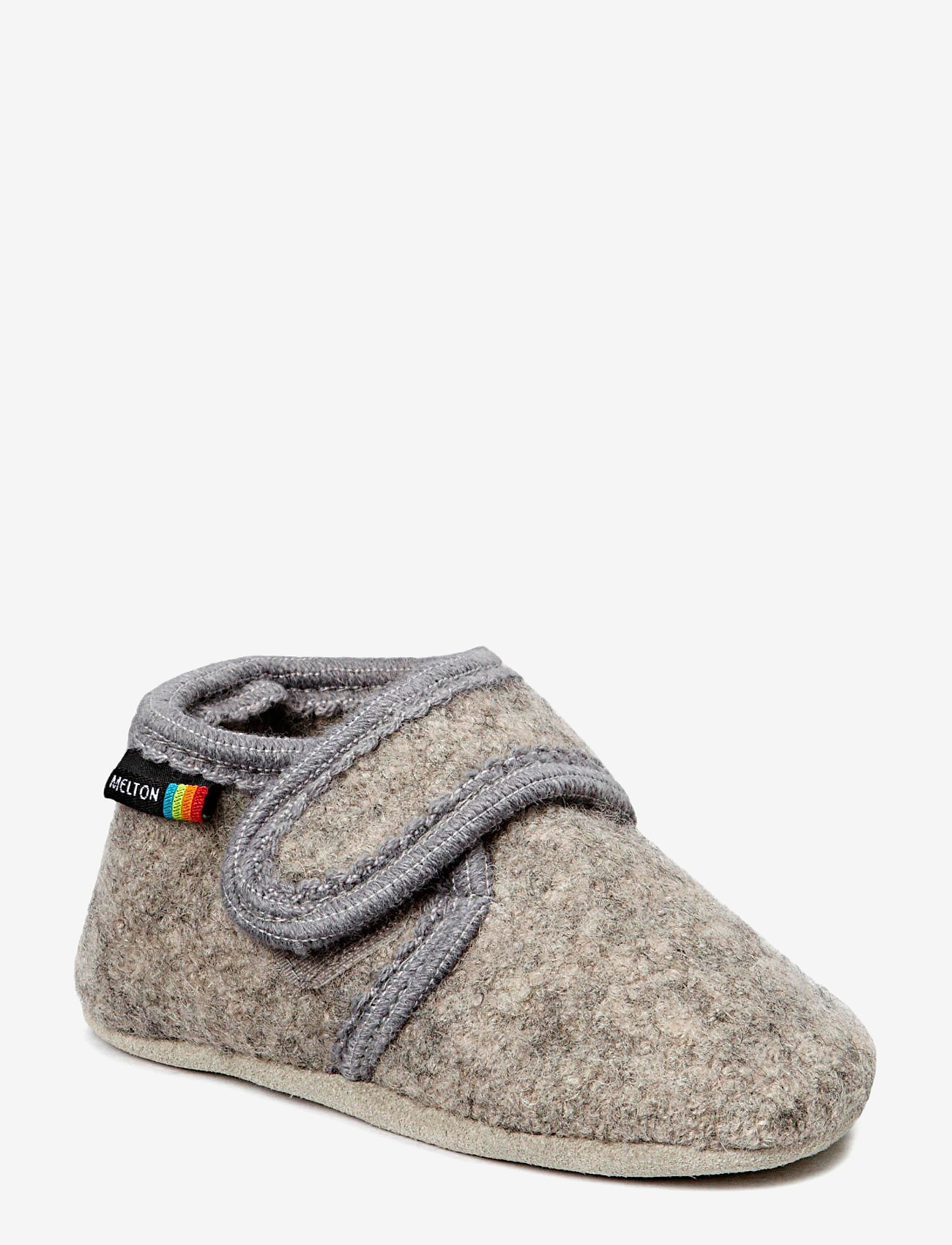 Melton - Wool soft shoe w/velcro - schuhe - 135/light grey melange - 0