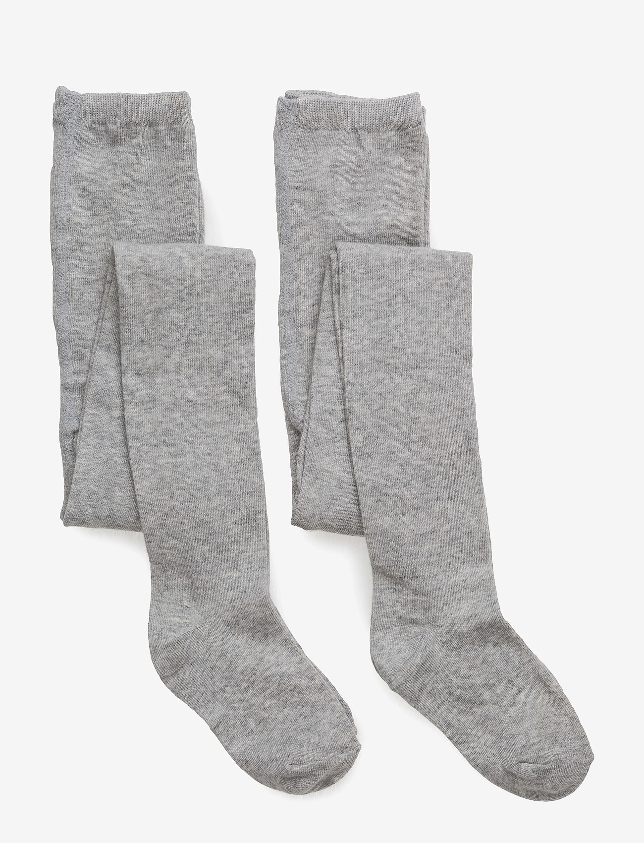 Melton - 2-pack cotton tights - rajstopy - 135/light grey melange - 0
