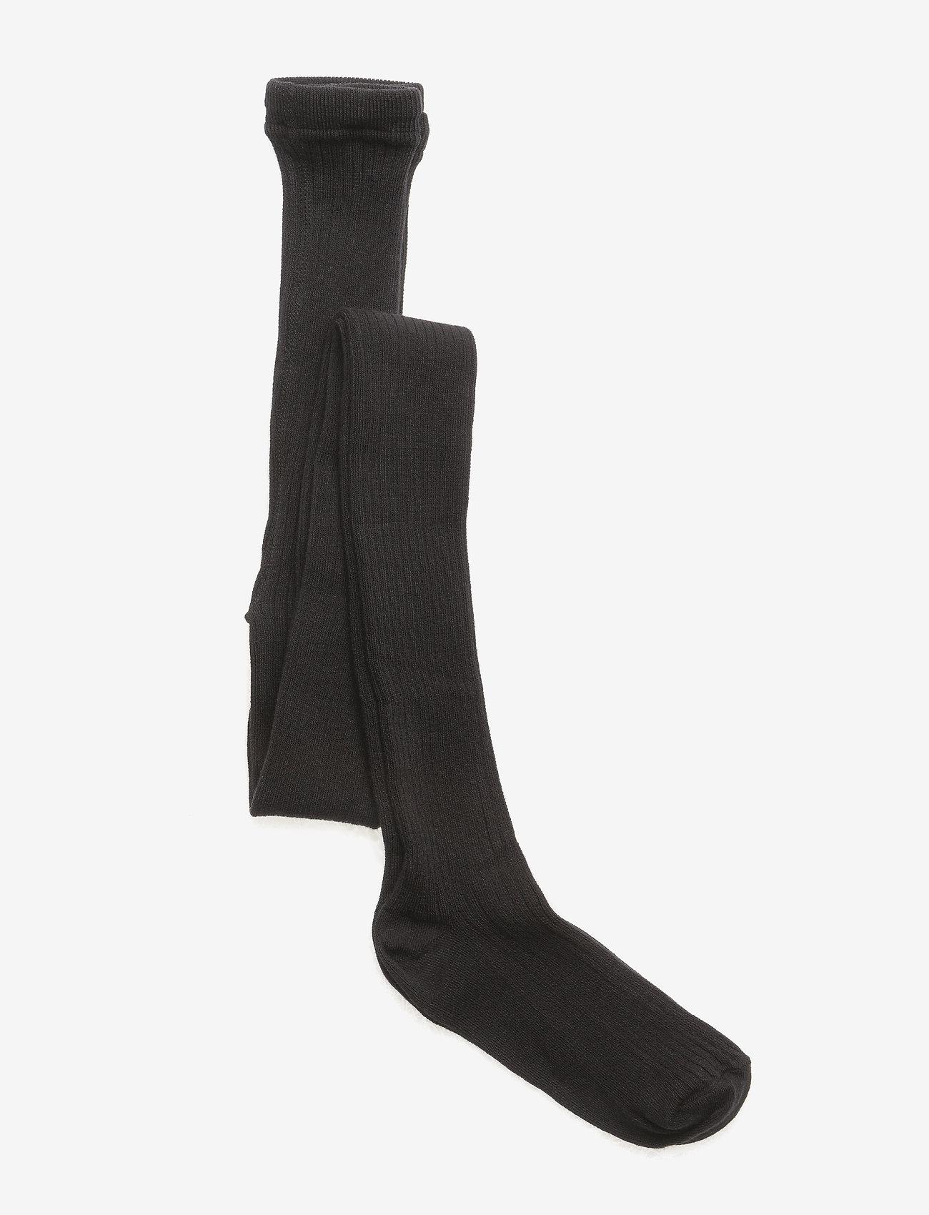 Melton - Tights All Size - Rib Basic - rajstopy - black - 0