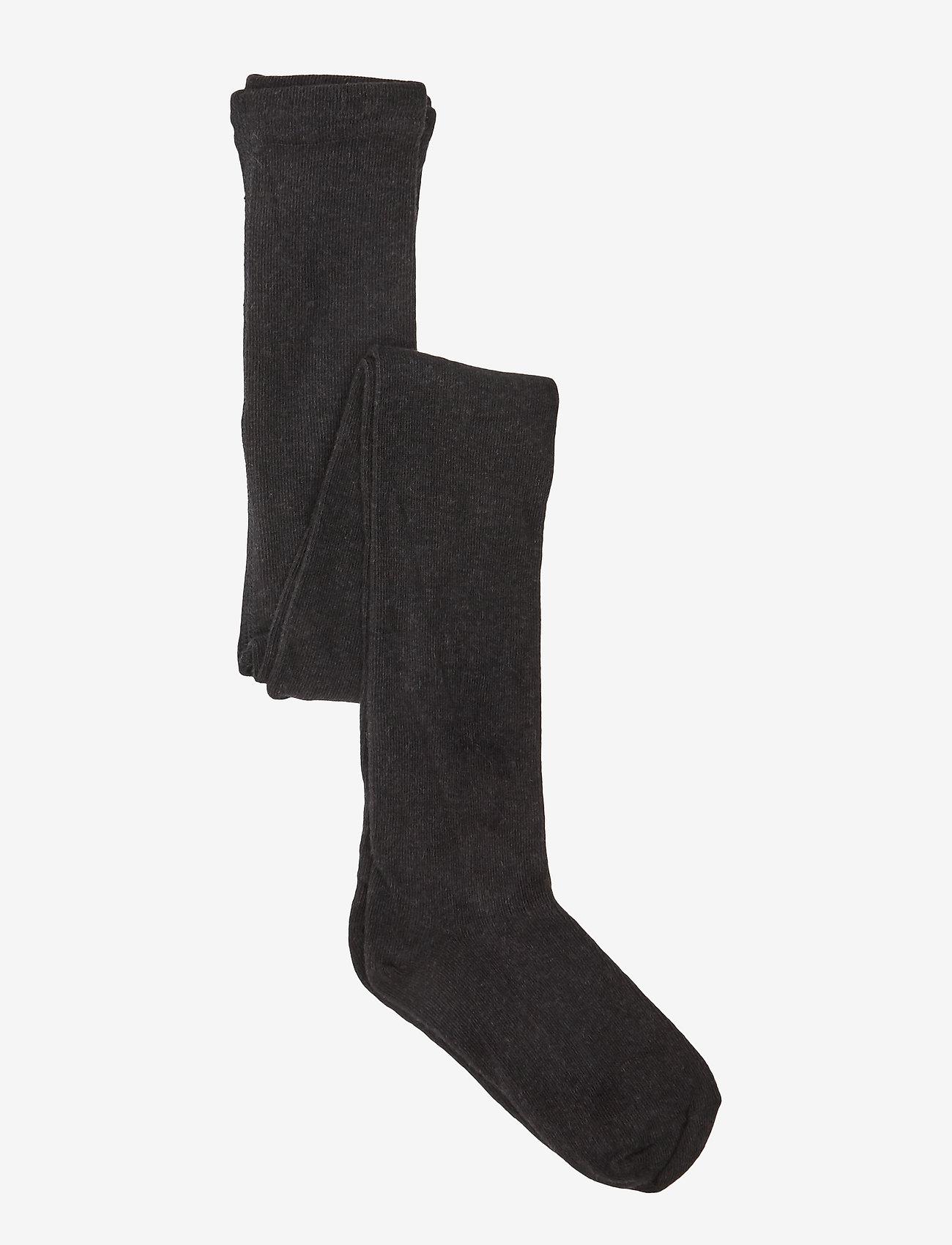 Melton - Cotton Tights - rajstopy - 180/dark grey melange - 0