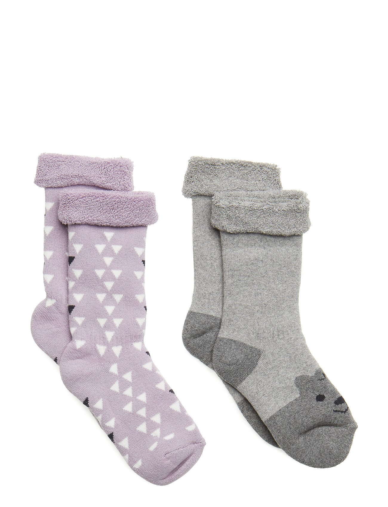 Melton Terry 2-pack Baby Sock - Girls - CLOUD LILAC