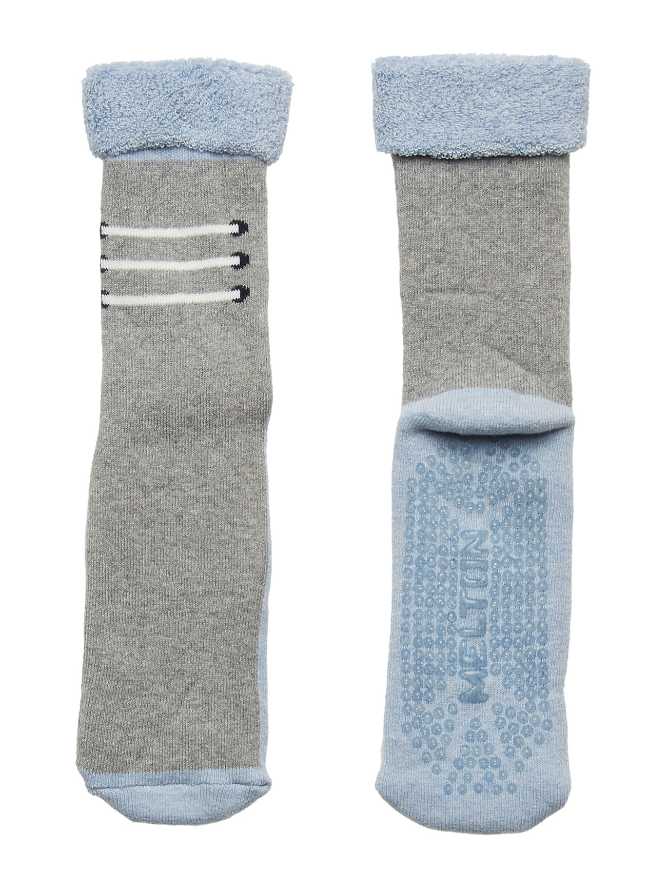 Melton Baby Terry Sock w/ABS - LIGHT GREY MELANGE
