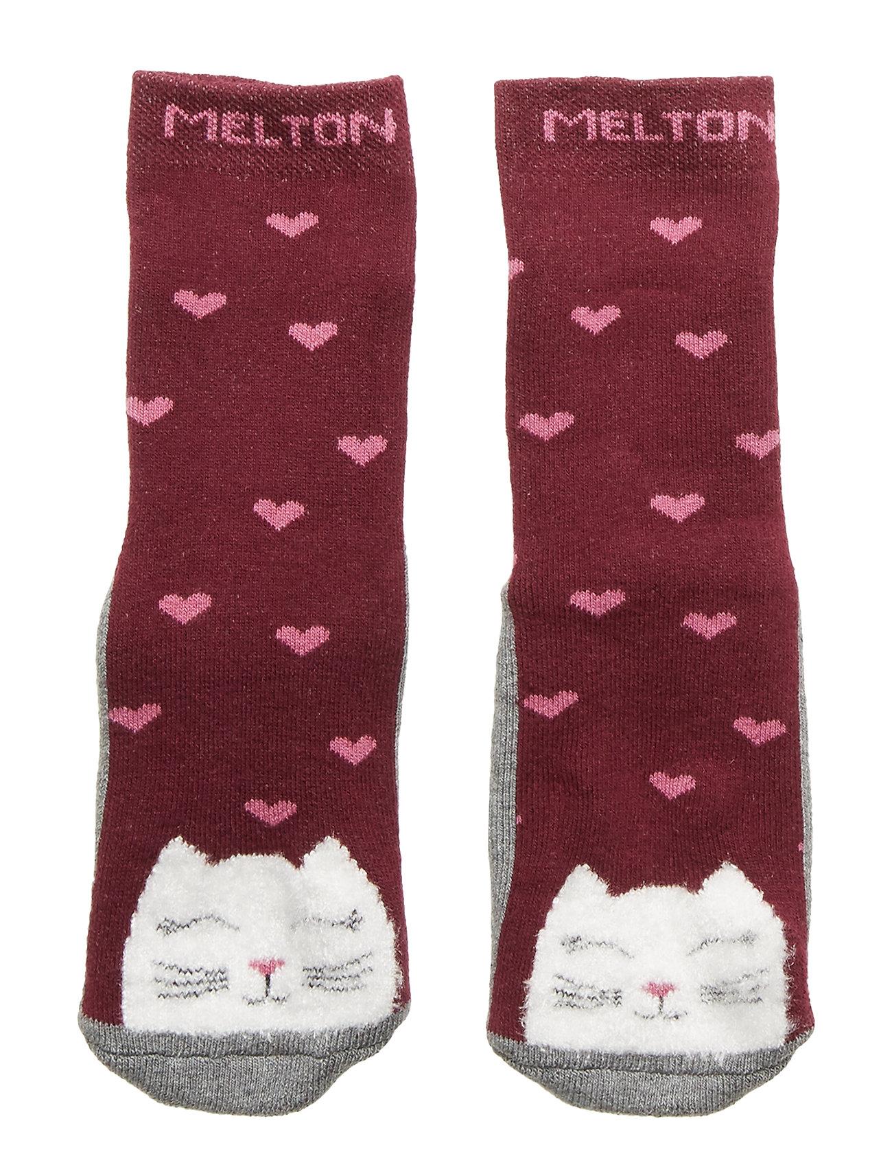Melton ABS TERRY Sock - Kitten - BORDEAUX