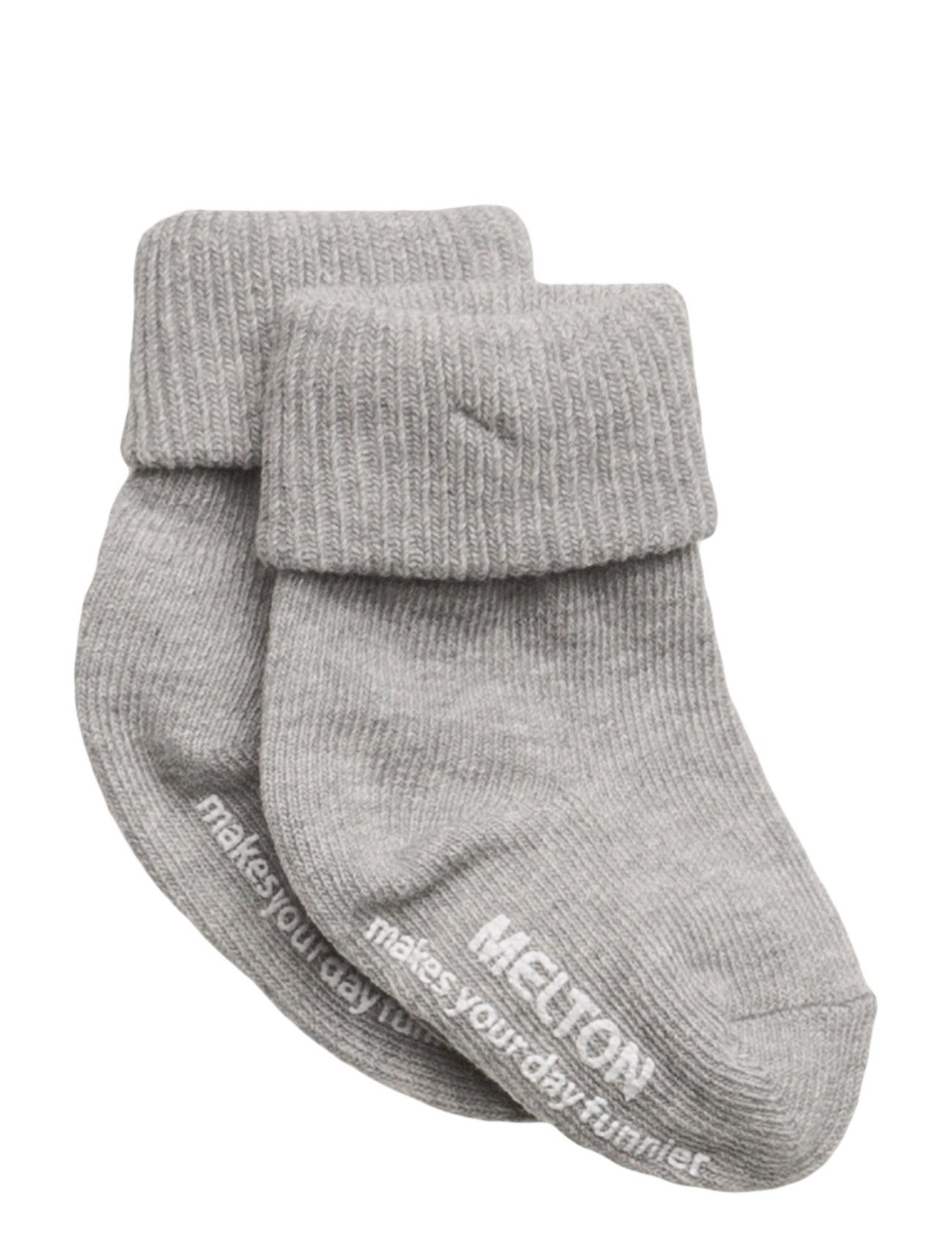 Melton Baby sock, turn-up - 135/LIGHT GREY MELANGE