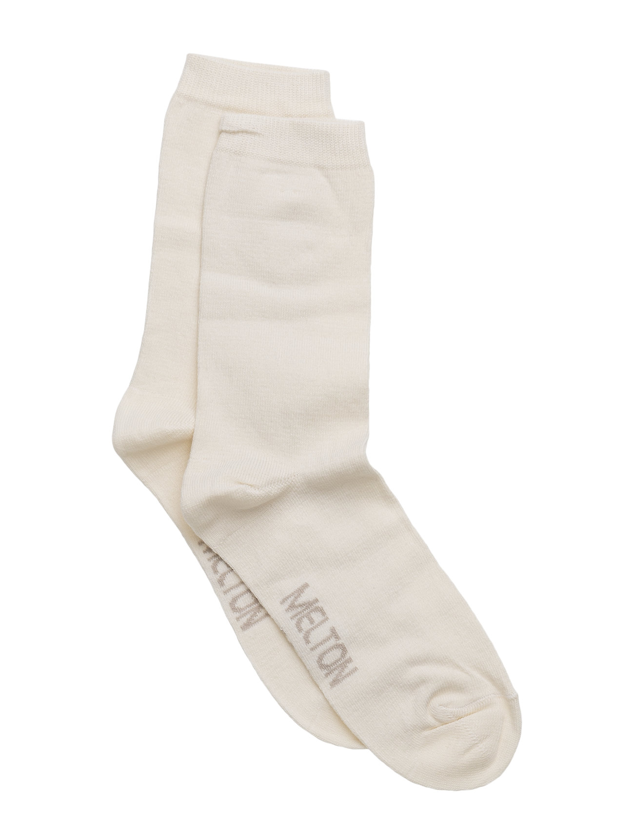 Melton Sock , plain colour - 410/OFFWHITE