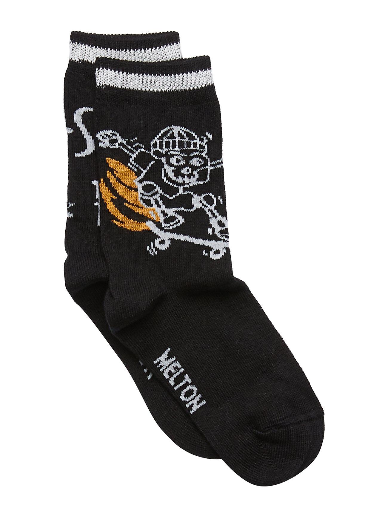 Melton Sock - Skate On Fire - BLACK